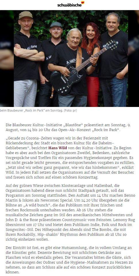 SZ_Laichingen_Ankündigung Rock im Park2020