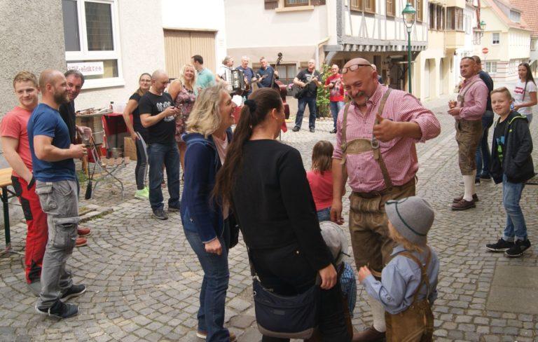 Unsere kroatischen Freunde, extra angereist